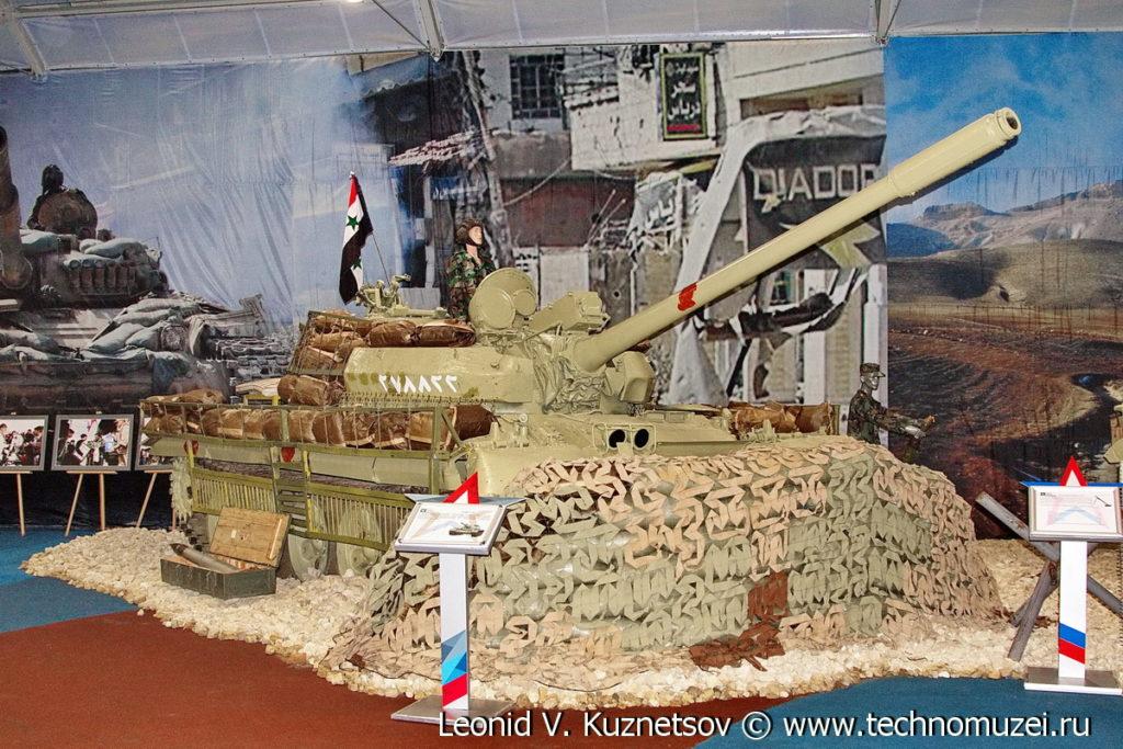 """Танк Т-55 сирийской армии на выставке """"Операция в Сирии"""" в парке Патриот"""