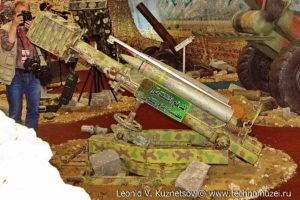 """Захваченное у террористов кустарное орудие на выставке """"Операция в Сирии"""" в парке Патриот"""