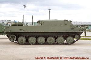 Гусеничный бронетранспортер БТР-50ПК в парке Патриот