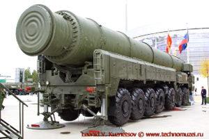 Пусковая установка 15У168 комплекса Тополь в парке Патриот