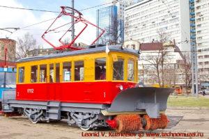Трамвай снегоочиститель ГС-4 на параде трамваев в Москве