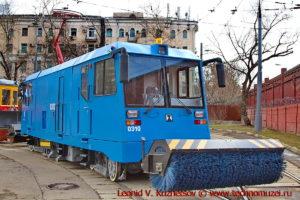 Рельсоуборочный трамвай РОСТ на параде трамваев в Москве