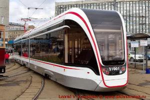 Трамвай Витязь-М 71-93М на параде трамваев в Москве