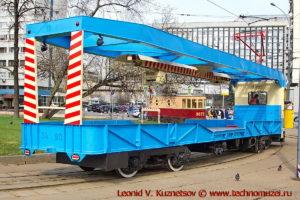 Трамвай рельсотранспортер РТ-3 на параде трамваев в Москве