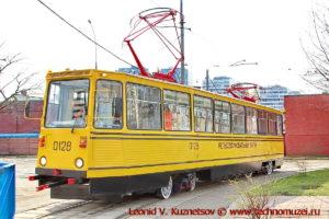 Рельсошлифовальный вагон РШМв-1 на параде трамваев в Москве