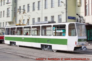 Трамвай Tatra T7B5 на параде трамваев в Москве