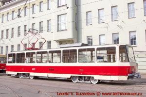 Трамвай Tatra T6B5 на параде трамваев в Москве