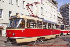 Трамвай Tatra T3 на параде трамваев в Москве