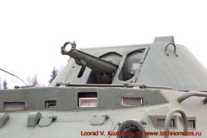 Бронетранспортер БТР-60ПБК в парке Патриот