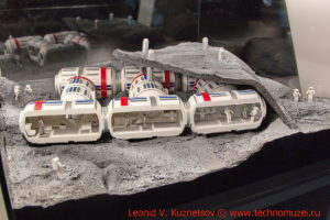 Макет лунного поселения будущего в павильоне Космос на ВДНХ