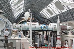 Макет орбитальной станции Мир в павильоне Космос на ВДНХ