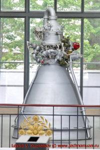 Жидкостный ракетный двигатель в павильоне Космос на ВДНХ