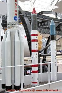 Ракеты-носители Космос-3М и Рокот в павильоне Космос на ВДНХ