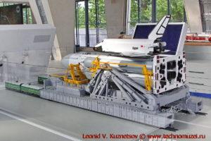 Комплекс Энергия-Буран на стартовой платформе в павильоне Космос на ВДНХ