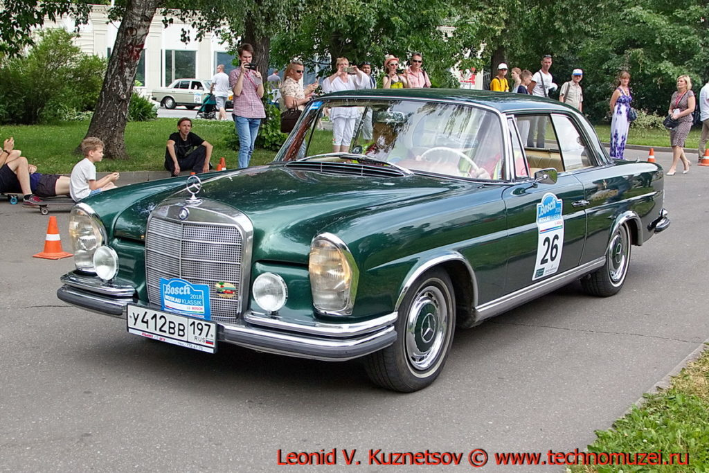 Mercedes-Benz 220 SEV 1964 года на ралли Bosch Moskau Klassik 2018