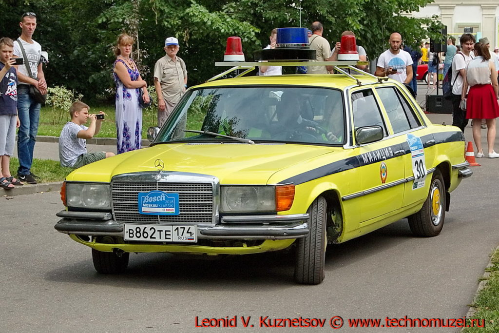 Mercedes-Benz 280 1980 года на ралли Bosch Moskau Klassik 2018