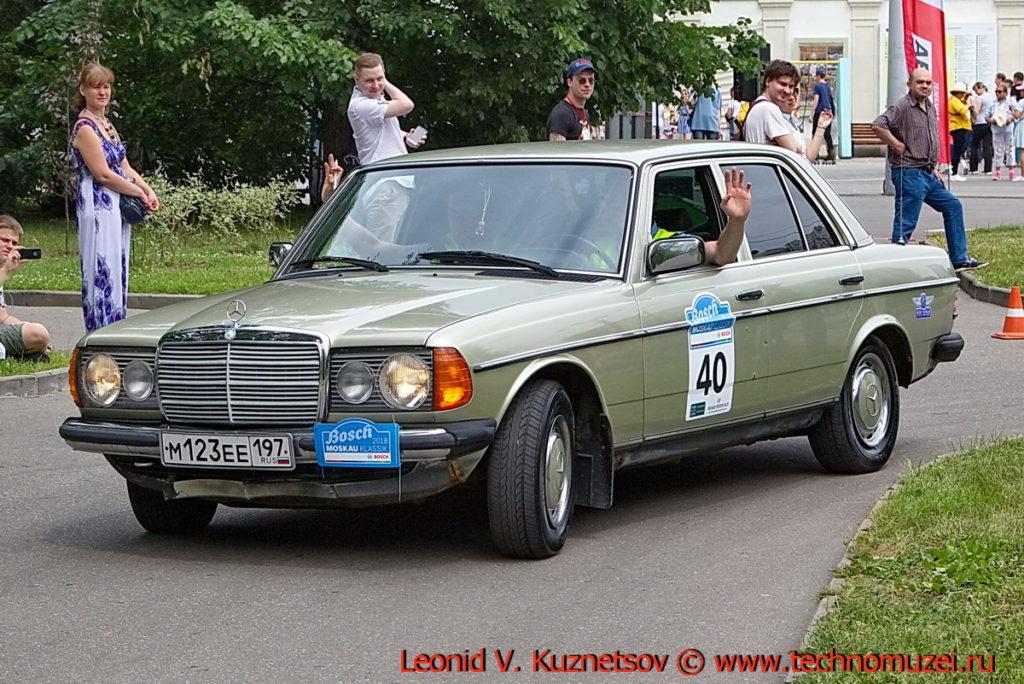Mercedes-Benz W123 1982 года на ралли Bosch Moskau Klassik 2018