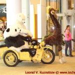 Медведи на мотоцикле БМВ в ТЦ Вегас на 66 км МКАД в Москве