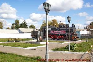 Памятник паровоз Эм 740-38 в Верховье Орловской области