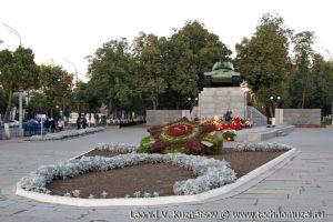 Сквер Танкистов в Орле на площади Мира