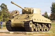 Танк M4-F4 Sherman в Ленино-снегиревском Военно-историческом музее