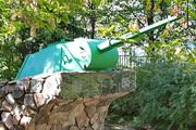 Башня танка Т-70 памятник в Сокольниках, Москва
