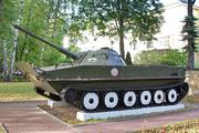Танк ПТ-76 у Аэроклуба имени Чкалова в Москве