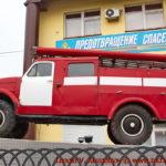 Памятник пожарным автоцистерна ПМГ-19 перед областным управлением МЧС во Владимире