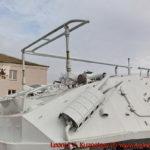 Бронетранспортер БТР-60ПУ перед областным управлением МЧС во Владимире