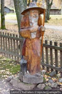 Старичок-лесовичок на Поляне сказок в этнографическом музее Костромская слобода