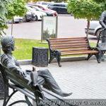 Скульптура Леонида Андреева в Литературном сквере у Орловского ГРИНН Центра