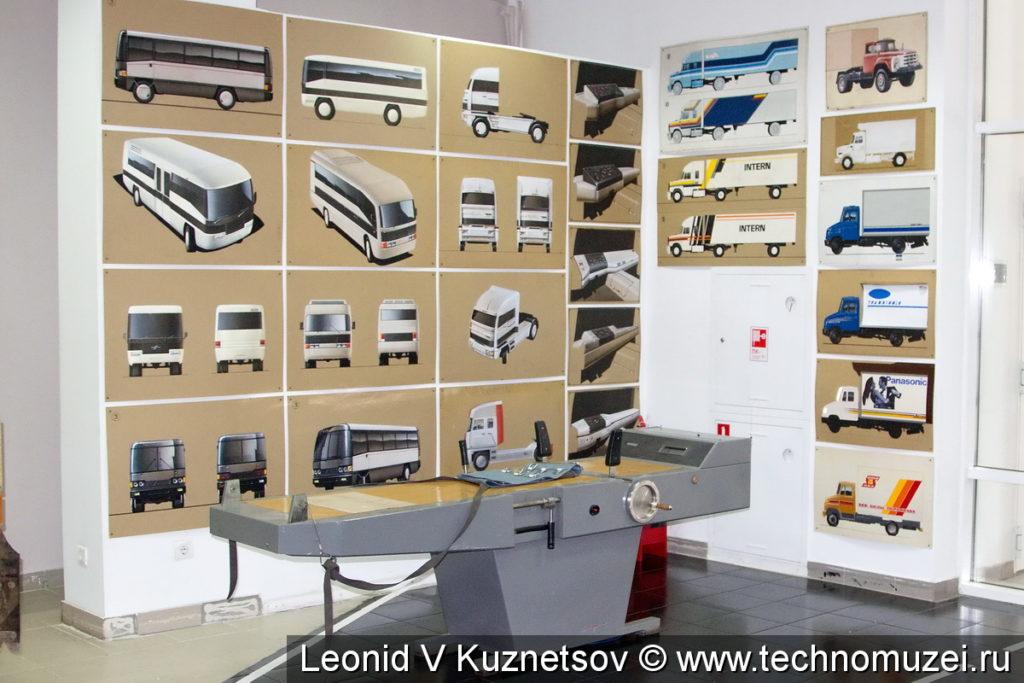 Эскизы перспективных автомобилей ЗиЛ в музее ЗиЛ в Сокольниках