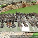 Автоматическое оружие на выставке сирийских трофеев в парке Патриот