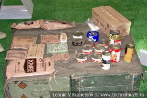 Индивидуальные продуктовые пайки боевиков на выставке сирийских трофеев в парке Патриот