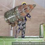 Пикап с авиационной пусковой установкой НУРС на выставке сирийских трофеев в парке Патриот