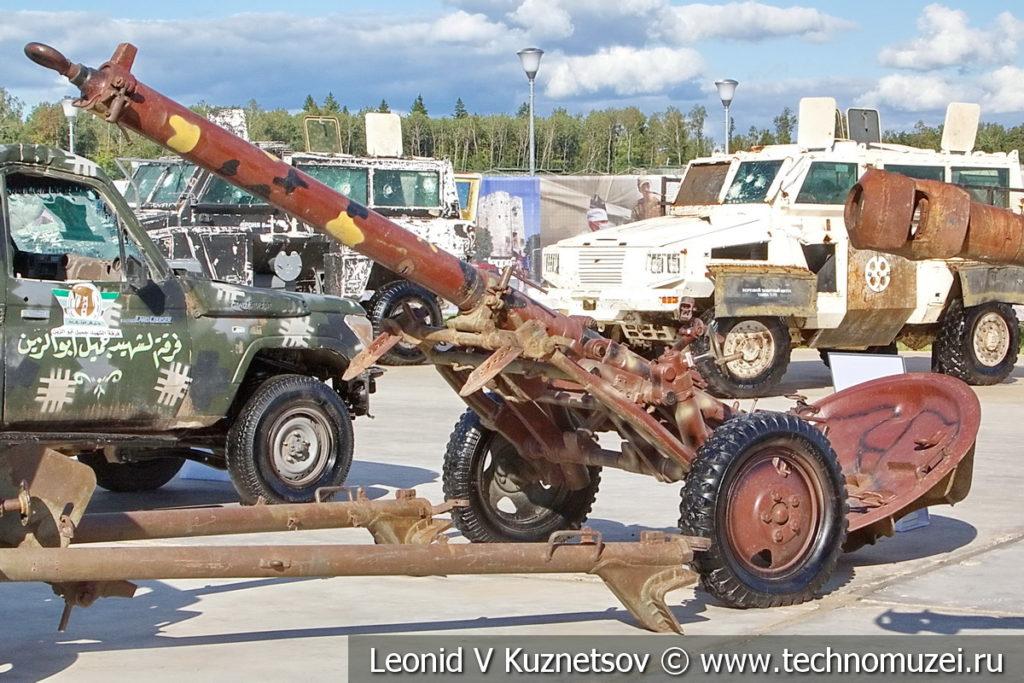 160-мм миномет МТ-160 на выставке сирийских трофеев в парке Патриот