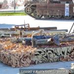 Безоткатные орудия боевиков на выставке сирийских трофеев в парке Патриот