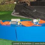 Водолазное снаряжение боевиков на выставке сирийских трофеев в парке Патриот