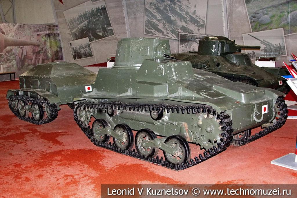 Японский малый танк Тип 94 ТК с химическим прицепом в музейном комплексе парка Патриот