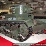 Огнеметный танк ОТ-130 в музейном комплексе парка Патриот