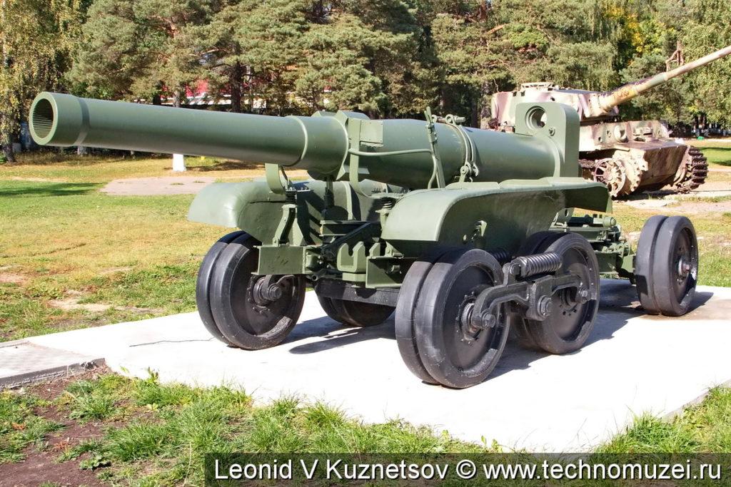 Орудийная повозка Бр-10 для ствола гаубицы Б-4 в Ленино-Снегиревском военно-историческом музее