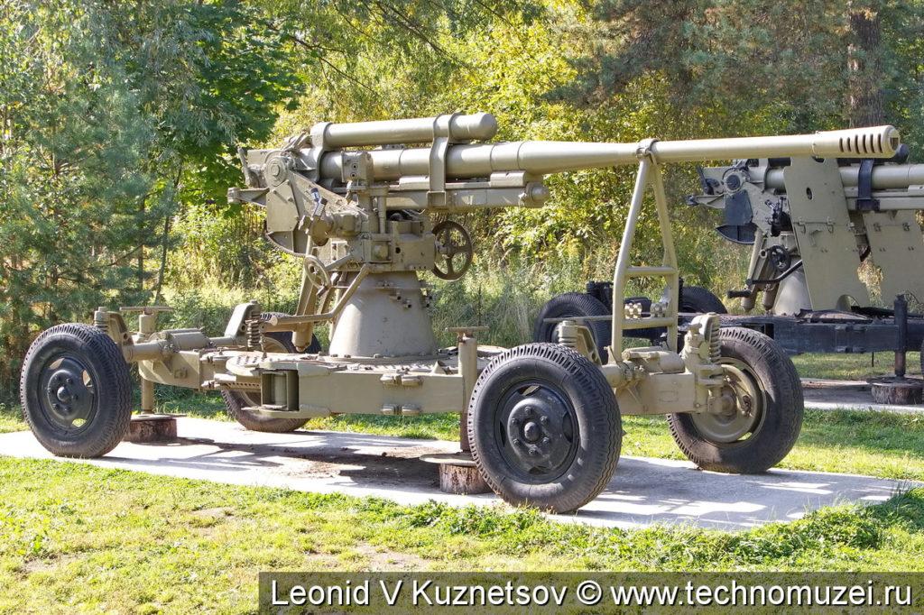 Зенитная пушка 52-К (52-Г-366) в Ленино-Снегиревском военно-историческом музее