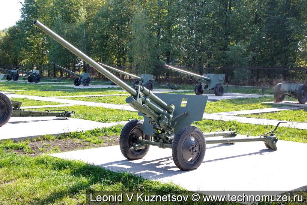 Пушка ЗиС-2 в Ленино-Снегиревском военно-историческом музее
