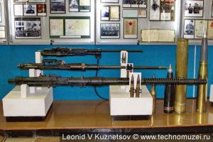 Авиационные пушки и снаряды в музее войск ПВО в Балашихе