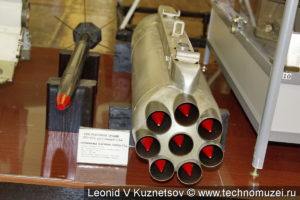 Блок реактивных орудий ОРО-57К в музее войск ПВО в Балашихе