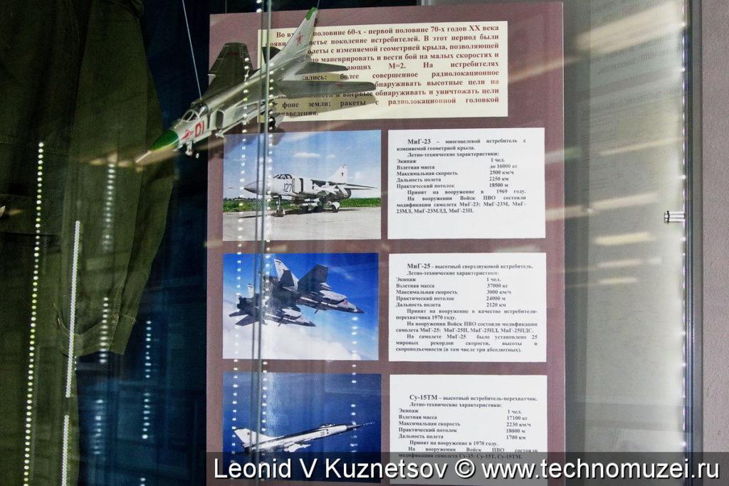 Модели истребителей 1970-х годов в музее войск ПВО в Балашихе
