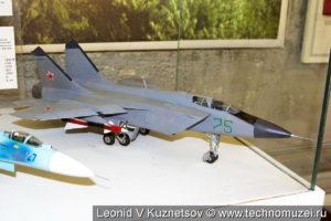 Модель истребителя-перехватчика Су-27 в музее войск ПВО в Балашихе