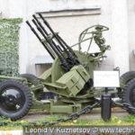 14,5-мм зенитная пулемётная установка ЗПУ-4 образца 1949 года в музее войск ПВО в Балашихе