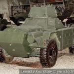Английский бронеавтомобиль Daimler Ferret Mk.II FV701 в музейном комплексе парка Патриот