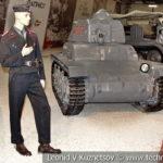 Французский легкий танк Renault R-35 1934 года в музейном комплексе парка Патриот